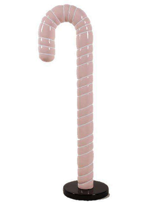 Candy Cane 6ft Pink Over Sized Prop Deecor Resin Statue - LM Treasures Life Size Statues & Prop Rental