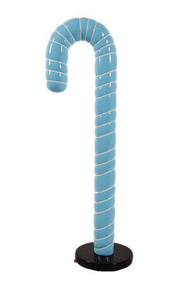Candy Cane 6ft Blue Over Sized Prop D̩ecor Resin Statue - LM Treasures - Life Size Statue