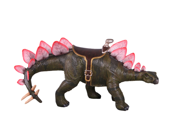Baby Definitive Stegosaurus Dinosaur With Saddle Life Size Statue - LM Treasures Life Size Statues & Prop Rental