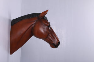 Chestnut Horse Head Life Size Statue - LM Treasures Life Size Statues & Prop Rental