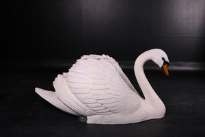 Large Swan Life Size Statue - LM Treasures