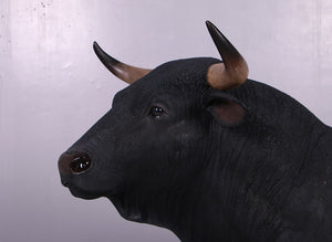 Spanish Fighting Bull Life Size Statue - LM Treasures
