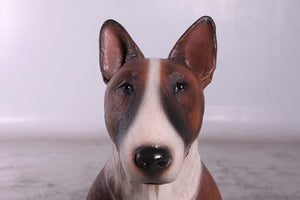 Brown Bull Terrier Life Size Statue - LM Treasures