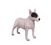 White Bull Terrier Life Size Statue - LM Treasures