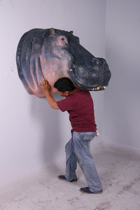 Hippo Head Life Size Statue - LM Treasures Life Size Statues & Prop Rental