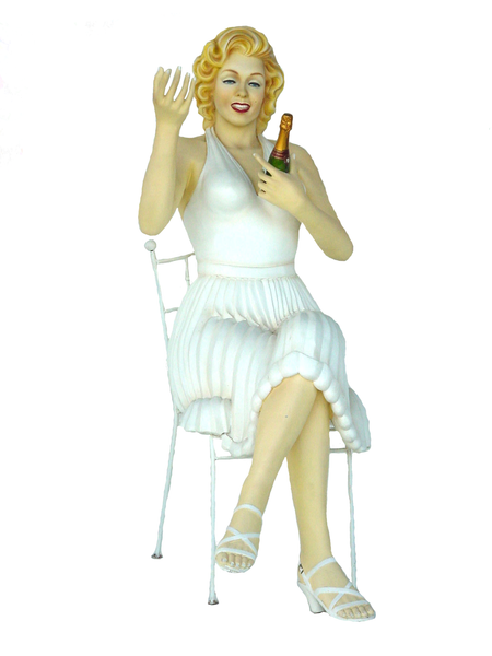 Actress Sitting Life Size Statue - LM Treasures Life Size Statues & Prop Rental