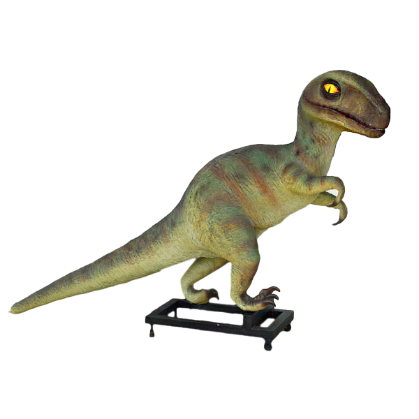 Baby T Rex Dinosaur On Base Life Size Statue - LM Treasures