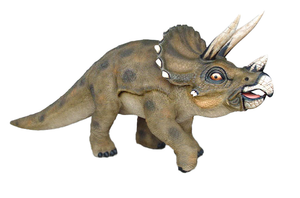 Triceratops Dinosaur Walking Life Size Statue - LM Treasures