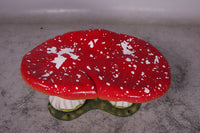 Red Double Mushroom Stool Over Sized Statue - LM Treasures Life Size Statues & Prop Rental