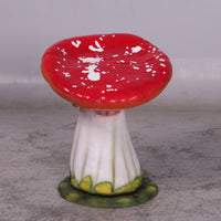 Red Single Mushroom Stool Over Sized Statue - LM Treasures Life Size Statues & Prop Rental