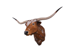 Texas Long Horn Head Life Size Statue - LM Treasures