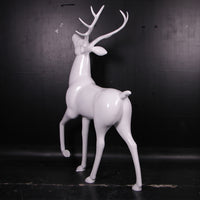 White Royal Stag Deer No Base Life Size Statue - LM Treasures Life Size Statues & Prop Rental