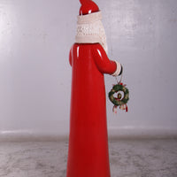 Santa Claus Christmas Skinny Prop Decor Resin Statue - LM Treasures Life Size Statues & Prop Rental