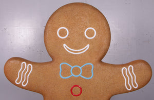 Man Gingerbread Cookie Over Sized Statue - LM Treasures