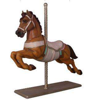 Carousel Horse Majestic Resin Statue Display Prop - LM Treasures