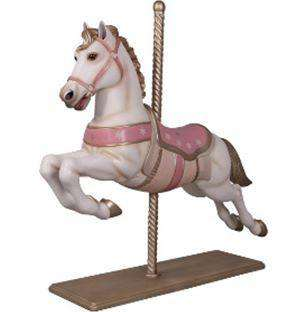 Carousel Horse White Majestic Resin Statue Display Prop- LM Treasures