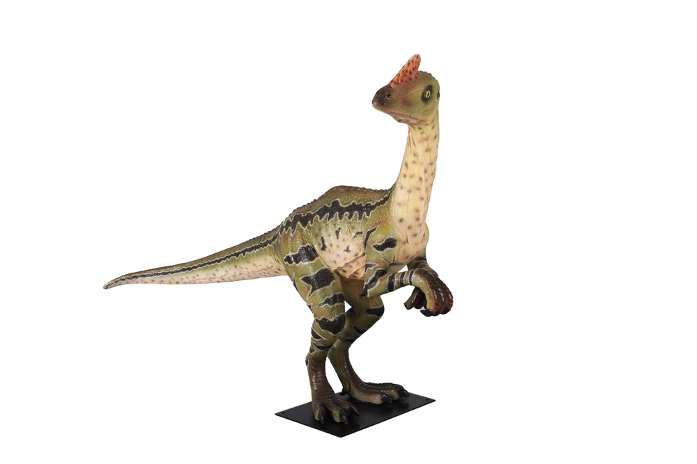 Dilong Paradoxus Dinosaur Life Size Statue - LM Treasures