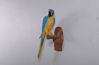 Blue Parrot Wall Decor Life Size Statue - LM Treasures
