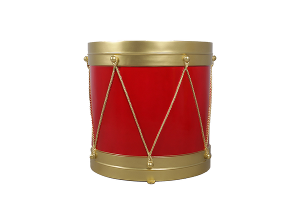Red And Gold Drum Life Size Statue - LM Treasures Life Size Statues & Prop Rental
