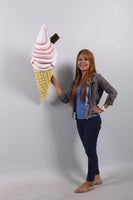 Hanging Soft Serve Strawberry Ice Cream Over Sized Statue - LM Treasures Life Size Statues & Prop Rental