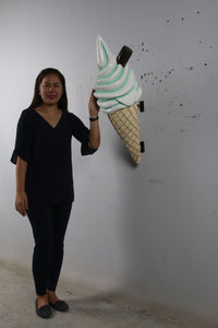 Hanging Soft Serve Mint Green Ice Cream Over Sized Statue - LM Treasures Life Size Statues & Prop Rental