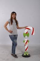 Lizzy Candy Cane Over Sized Statue - LM Treasures