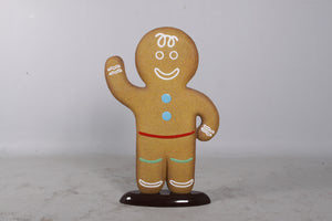 Gingerbread Family Set Cookie Display Prop Decor Statue - LM Treasures