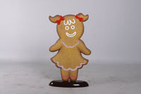 Girl Gingerbread Cookie Over Sized Statue