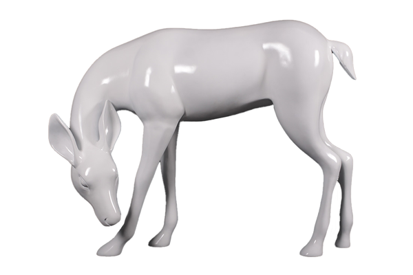 White Deer Standing Life Size Statue - LM Treasures Life Size Statues & Prop Rental