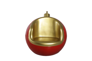 Round Christmas Ornament Seat Over Sized Statue - LM Treasures