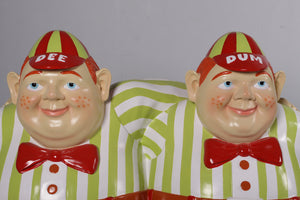 Tweedle Dee and Tweedle Dum From Alice In Wonderland Life Size Statue - LM Treasures Life Size Statues & Prop Rental