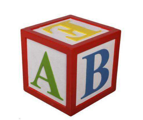 Letter Block Alphabet Prop Resin Decor