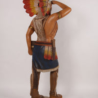 Tobacco Indian Life Size Statue - LM Treasures Life Size Statues & Prop Rental