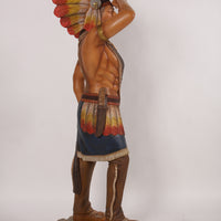Indian Tobacco Cigar Store Standing 6ft Life Size Prop Decor Resin Statue - LM Treasures Life Size Statues & Prop Rental