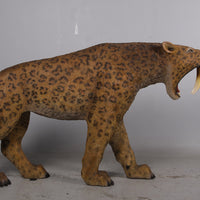 Smilodon Saber Tooth Life Size Statue - LM Treasures Life Size Statues & Prop Rental
