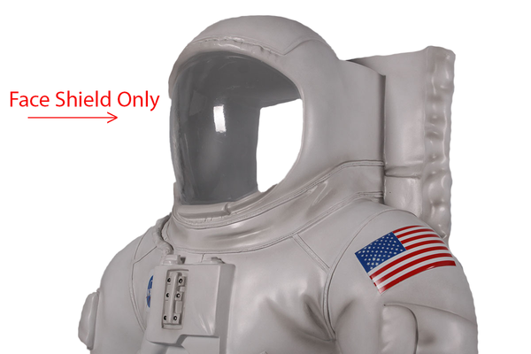 Extra Face Shield For Astronaut Photo Op Life Size Statue - LM Treasures
