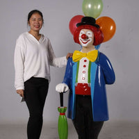 Clown With Balloons Life Size Statue - LM Treasures Life Size Statues & Prop Rental