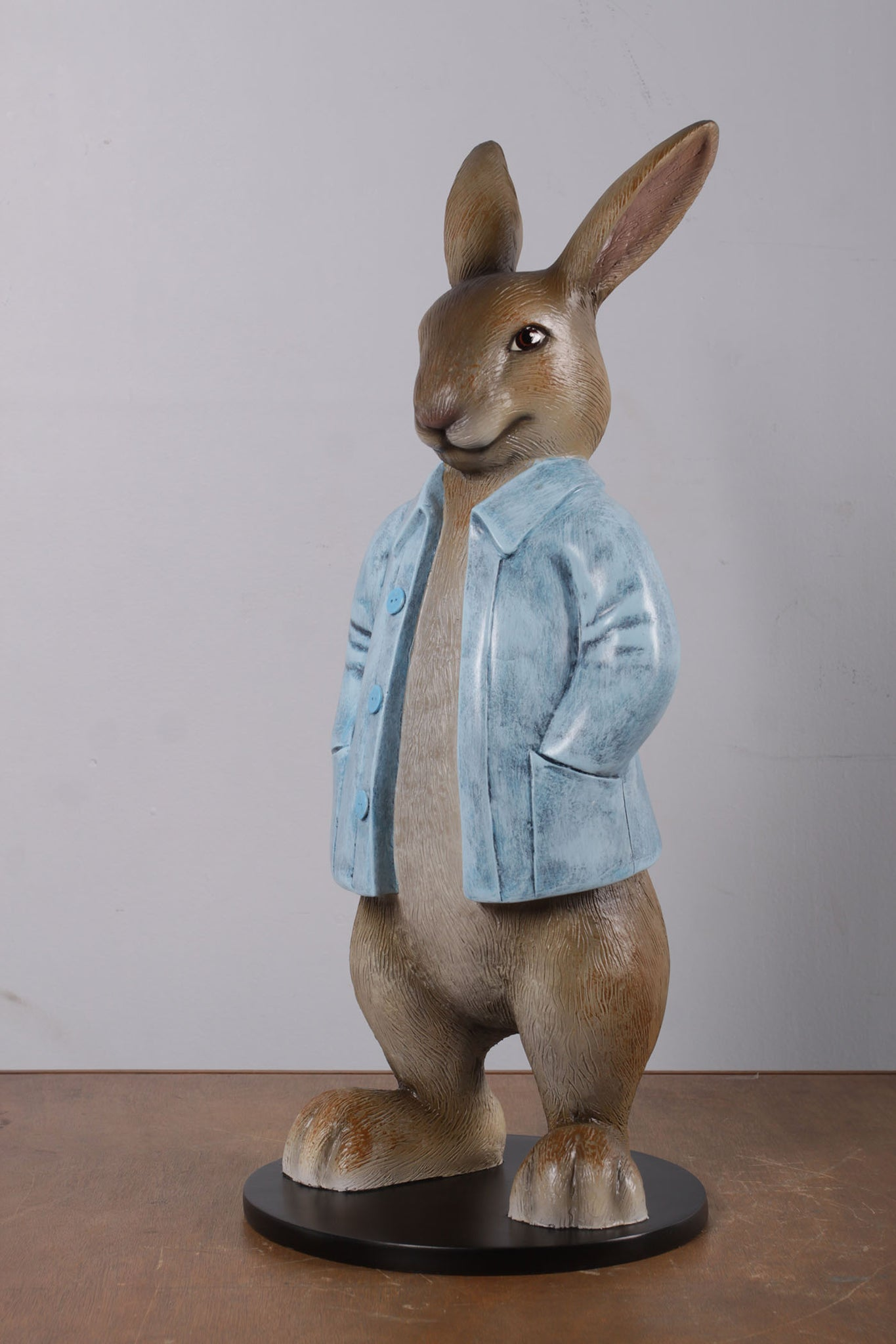 Rob The Bunny Rabbit With Long Jacket Life Size Statue Lm Treasures