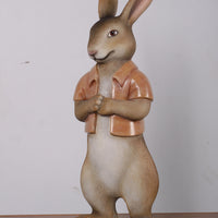 Rabbit Rob With Short Jacket Display Resin Easter Prop Decor Statue - LM Treasures Life Size Statues & Prop Rental