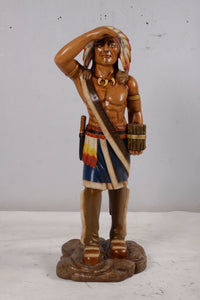 Tobacco Indian Small Statue - LM Treasures Life Size Statues & Prop Rental