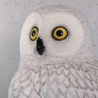 Bird Owl Snow Animal Prop Life Size Resin Statue - LM Treasures Life Size Statues & Prop Rental