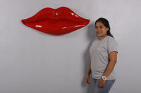 Lips Red Wall Decor Prop Resin Statue - LM Treasures Life Size Statues & Prop Rental