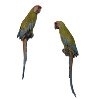 Macaw Buffon Lover Parrots Life Size Statue - LM Treasures