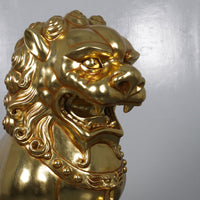 Foo Dog Male Chinese Lion Over Sized Statue - LM Treasures
