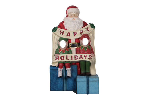 Happy Holidays Photo Op Life Size Statue - LM Treasures Life Size Statues & Prop Rental