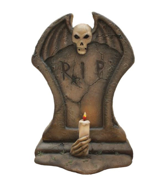 Gravestone 1 candle - LM Treasures Life Size Statues & Prop Rental