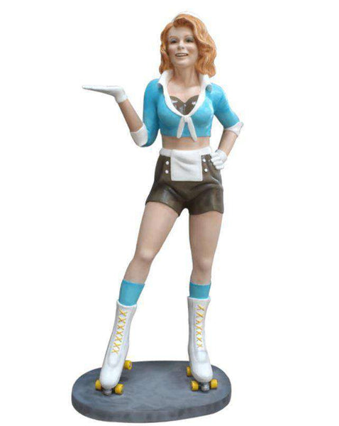 Car Hop Waitress Life Size Resin Statue - LM Treasures