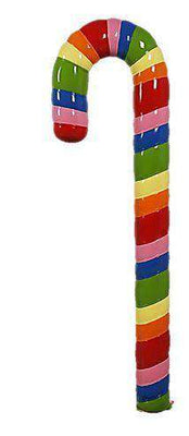 Candy Cane Rainbow 4ft Prop Display Resin Statue - LM Treasures Life Size Statues & Prop Rental