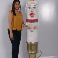 Female Candle Over Sized Statue - LM Treasures