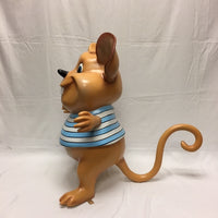 Mouse In Blue Over Sized Statue - LM Treasures